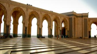 Shadows national geographic sunlight casablanca morocco arches wallpaper