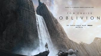 Tom cruise ruined city oblivion - movie wallpaper