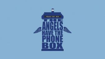Typography doctor who weeping angel phone booth wallpaper