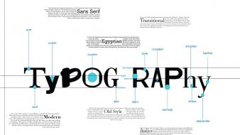 Typography font information diagram typefaces wallpaper