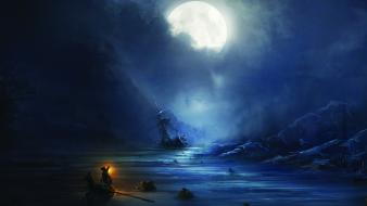 Video games assassins creed ships artwork 3 wallpaper