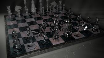 Video games glass chess board wallpaper