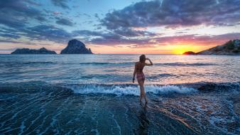 Water nature beach ibiza sealife wallpaper