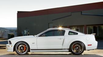 White ford mustang gt bbs muscle car Wallpaper