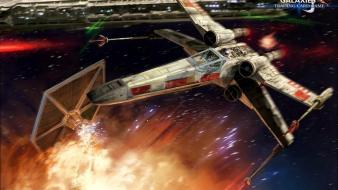 X-wing digital art science fiction artwork destroyer wallpaper