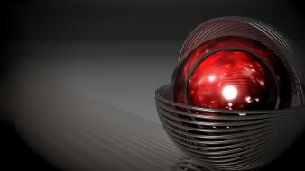 Abstract 3d render red object gradient background Wallpaper