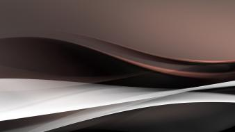 Abstract black waves 3d render wallpaper