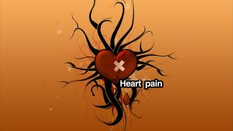 Abstract love yellow orange funny pain wallpaper