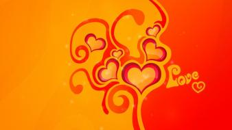 Abstract love yellow orange funny wallpaper