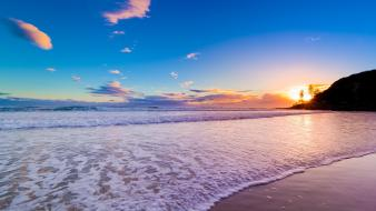 Beach dawn waves australia hdr photography sea wallpaper