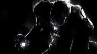 Black iron man dark movies digital art monochrome wallpaper