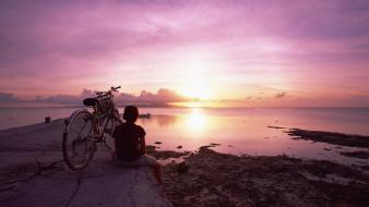 Boy sunset japan okinawa evening wallpaper