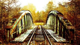 Bridges abandoned bro autumn wallpaper