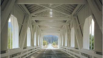 Bridges interior covered bridge lynn Wallpaper