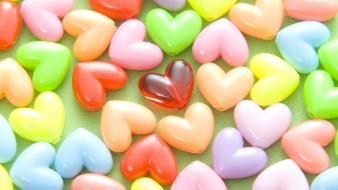 Candy hearts wallpaper