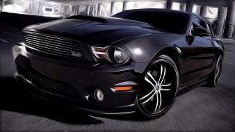 Cars drawings ford mustang Wallpaper