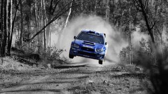 Cars rally subaru airborne selective coloring wrx sti wallpaper