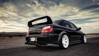 Cars subaru roads vehicles tuning impreza wrx sti Wallpaper