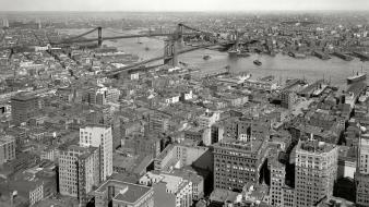 City grayscale historical east river amin peyrovi wallpaper