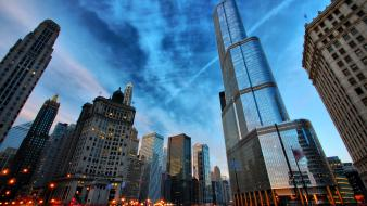 Cityscapes chicago skyscrapers Wallpaper