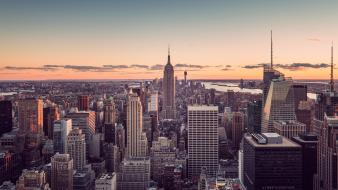 Cityscapes urban buildings new york city skyscrapers wallpaper