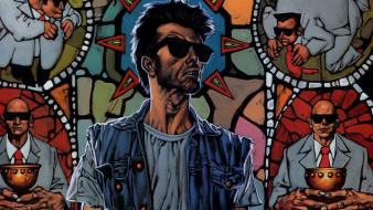 Comics sunglasses artwork preacher vertigo wallpaper