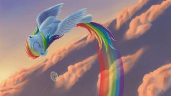 Dash sonic rainboom pony: friendship is magic wallpaper
