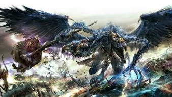 Fantasy art tzeentch artwork warhammer 40,000 Wallpaper