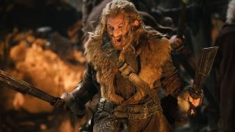Fighting weapons dwarfs the hobbit fili wallpaper