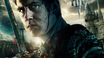 Hallows neville longbottom swords matthew david lewis Wallpaper