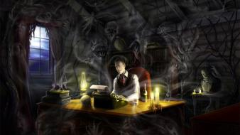 Horror hp lovecraft artwork macabre wallpaper