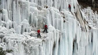 Ice mountains landscapes nature Wallpaper