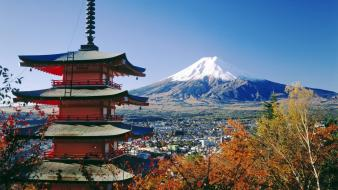 Japan mount fuji chureito pagoda Wallpaper