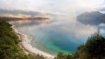 Landscapes nature beach new zealand lakes wallpaper
