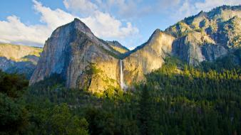 Landscapes nature forest valley yosemite waterfalls geology wallpaper