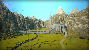 Lord of rings minecraft middle-earth helms deep Wallpaper