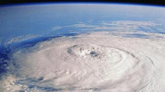 Outer space hurricane Wallpaper