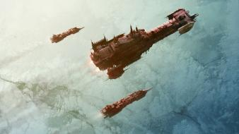 Outer space planets warhammer ships spaceships artwork wallpaper
