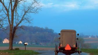 Pennsylvania lancaster amish buggy complex magazine wallpaper