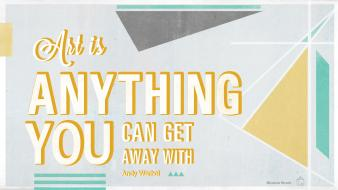 Quotes typography shapes artwork andy warhol triangles wallpaper