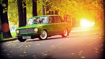 Roads old lada 2101 rays russian žiguli Wallpaper
