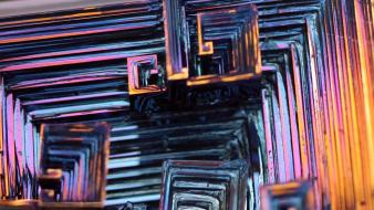 Science metal crystals element bismuth wallpaper