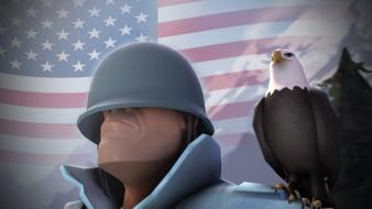 Soldier eagles usa team fortress 2 3d Wallpaper