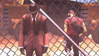 Spy tf2 scout team fortress 2 3d Wallpaper