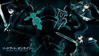 Swords sword art online kirigaya kazuto kirito Wallpaper