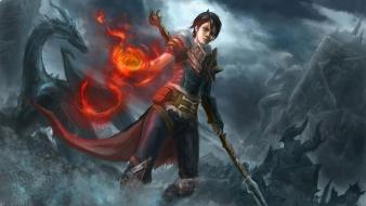 Video games dragons dragon age 2 hawke wallpaper