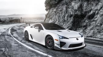 White lexus lfa static 2013 wallpaper