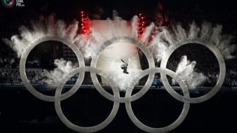 Winter sports olympic games 2010 vancouver rings wallpaper