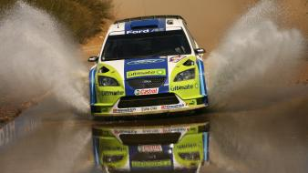 Wrc races cars splash ford focus car wallpaper
