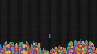 Abstract video games minimalistic multicolor tetris wallpaper